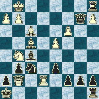Position after 20. Qxg7#!!